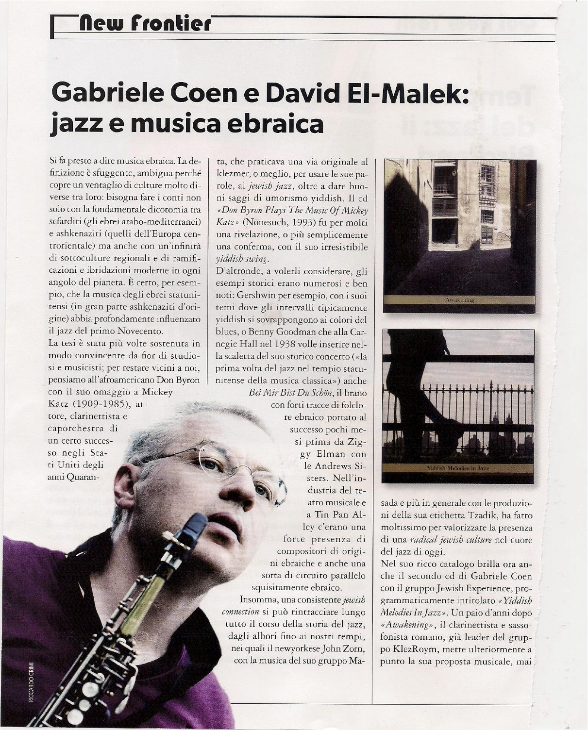 articolo musica jazz giugno 2013 p.1