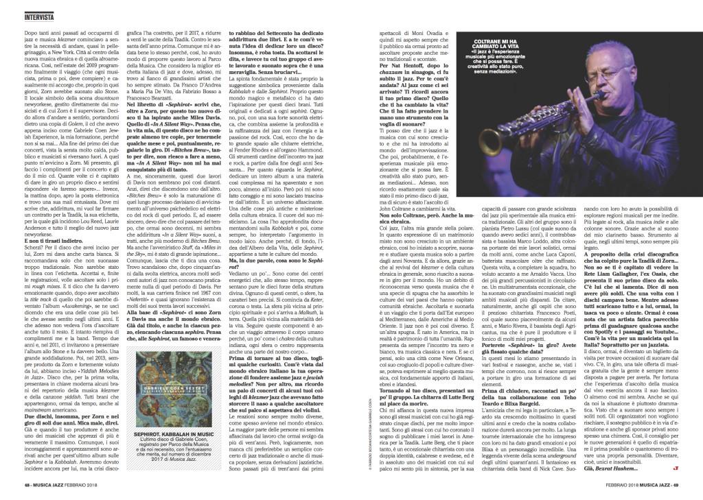2 musica jazz intervista _Febbraio